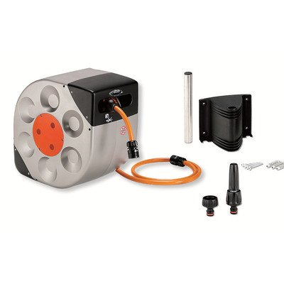 Claber 8988 Automatic Rotoroll Wall Mount Swivel Garden Hose Reel with 33-Feet 1/2-Inch Hose
