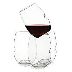 Govino Plastic Wine/Cocktail Glass Flexible Recyclable Shatterproof (Set of 4)