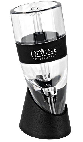DeVine Professional Grade Instant Wine Aerator - Aerate Wines in Seconds - Includes a Travel Pouch