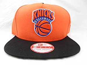NBA New York Knicks 9Fifty Turnover Snapback 2 Tone Cap Hardwood Classic, Orange/Black