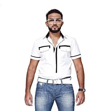Mfaz - Chemise Unie - Couleur : Blanc - Taille : L