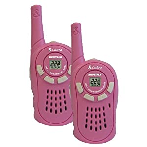 Cobra CX130A GMRS/FRS 16 Mile 22 Channel 2-Way Radio Set (Pink)