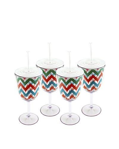 BergHOFF Set of 4 Acrylic Wine Glasses