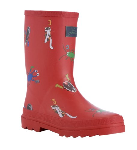 Joules Kids Pillar Box Red Wellington Boots Size