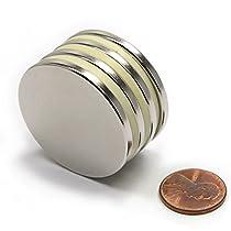 CMS Magnetics® Grade N45 Disc Neodymium Magnets Dia 1.5 x 1/8