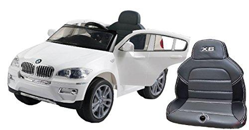 BMW X6 Original licenza, 2x Motore, con Seduta in Pelle Cucita, 12 V della Batteria, con 2,4 GHz Bluetooth Telecomando, Avviamento dolce, Macchina bambino, Macchine e Moto elettriche, Veicoli Elettrici, Veicolo Elettrico