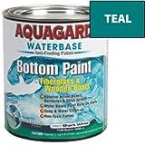 New-AQUAGARD WATERBASED BOTTOM PAINT QUART TEAL - 38702