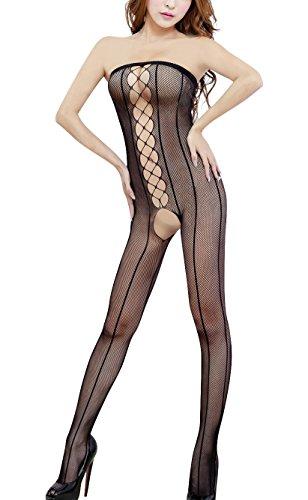 Paplan Donna Cassa spostata tuta netto Yui attraversare le linee Body pizzo Calze trasparente