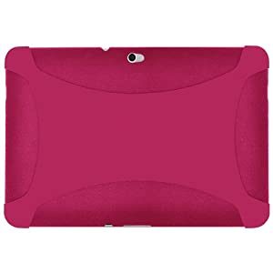 Amzer Silicone Skin Jelly Case for Samsung GALAXY Tab 10.1 P7100 - Hot Pink (AMZ91388)