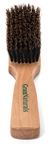 GranNaturals Men's Boar Bristle Hair + Beard Brush (Hot Waves Hair Brush compare prices)
