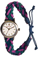 Kahuna Women's Quartz Watch with White Dial Analogue Display and Turquoise Leather Strap KLF-0020L
