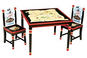 Guidecraft Pirate Table Chair Set