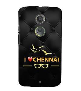 EPICCASE I love chennai Mobile Back Case Cover For Moto X 2nd Gen (Designer Case)