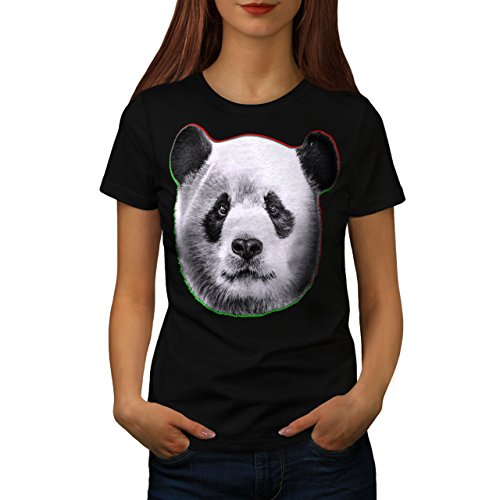 cracked-wood-panda-timber-style-women-new-black-xl-t-shirt-wellcoda