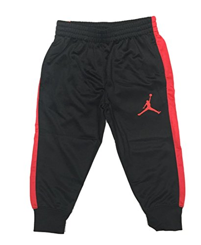 Jordan Toddler Boys Athletic Training Pants-Black/Crimson 2T (Jordan Toddler Clothes compare prices)