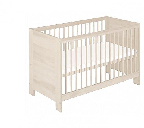 BioKinder-23077-Niklas-Babybett-Kinderbett-aus-Massivholz-Kiefer-wei-lasiert-60-x-120-cm