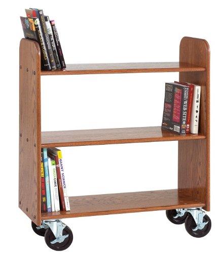 Diversified Woodcraft Bt211 Natural Oak Finish Book Truck