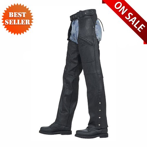 Leather Chaps Unisex Pant Style Leather Motorcycle Chaps