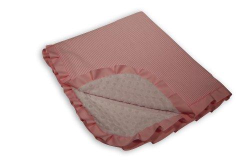 Caught Ya Lookin' Reversible Baby Blanket, Pink Seersucker