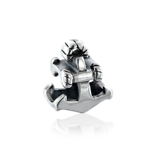 Bling Jewelry 925 Sterling Silver Nautical Anchor Charm Bead Pandora Compatible