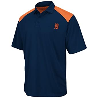 Detroit Tigers Shoulder Polo Shirt by Majestic