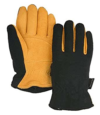 Heatlok Thermal Warm Winter Gloves-Tan and Black-Men's