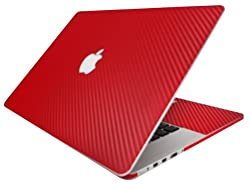 BodyGuardz Armor Carbon Fiber Full Body Stylish Protector for Apple 13-Inch MacBook Pro with Retina Display - Red (BZ-ACR3R-1012)