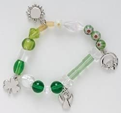 """Irish Blessings"" Glass Beaded Story Bracelet"