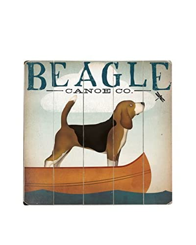 Artehouse Beagle Canoe Company Wood Wall Décor, Brown/Black