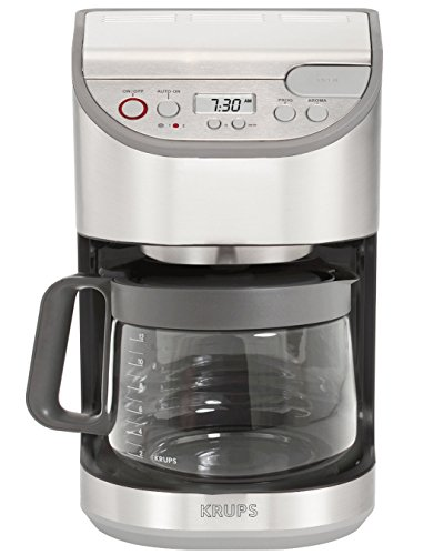 Aroma Electric Coffee Maker : KRUPS KM611D Precision Programmable Coffee Maker with Aroma Selection and Stainless Steel ...