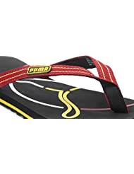 Puma Men's Neon Cat Black & Red Flip-Flops And House Slippers -Size 9
