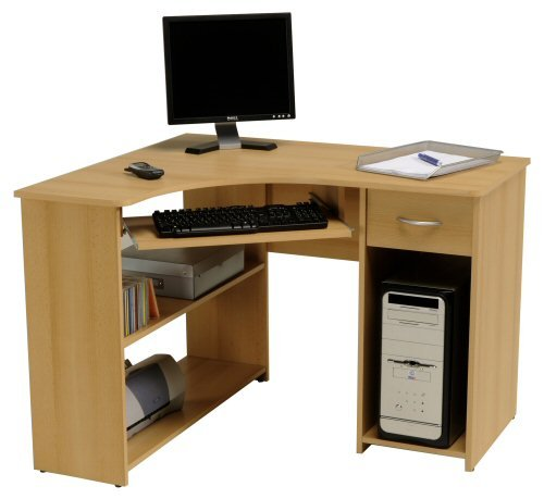 Bureau meuble angle pas cher for Meuble bureau amazon