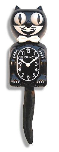 Kit-Cat BC01 Classic Black Clock, Large