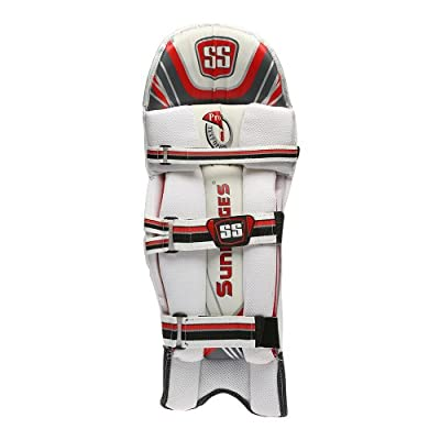 SS Test Opener Men's RH Batting Legguard (White/Red)