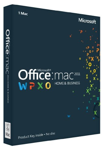 Office Mac Home & Business 2011 Key Card (2 Macs/1User)