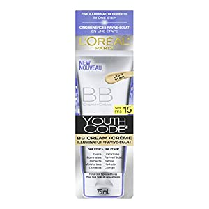 L'Oreal Paris Youth Code BB Cream Illuminator, Light, 2.5 Fluid Ounce