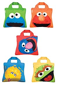 Envirosax Sesame Street Reusable Shopping Bags 5-pack