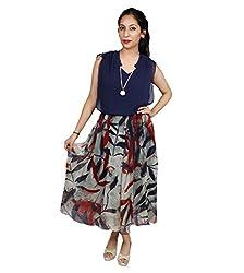 Sarv Ebiz Women's Long A-Line Dress (SEAN480XL_Multicolor-XL)
