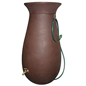 Algreen 81111 65-Gallon Cascata Rain Water Collection and Storage System, Dark Brown
