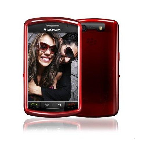 iskin - Skin Vibes per Blackberry Storm, colore: Rosso fuoco