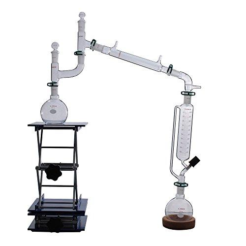 Laboy Glass Vacuum Distillation Apparatus Lab Glassware kit 17pcs (Vacuum Distillation compare prices)