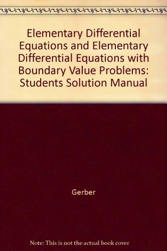 elementary differential equations and boundary value problems pdf