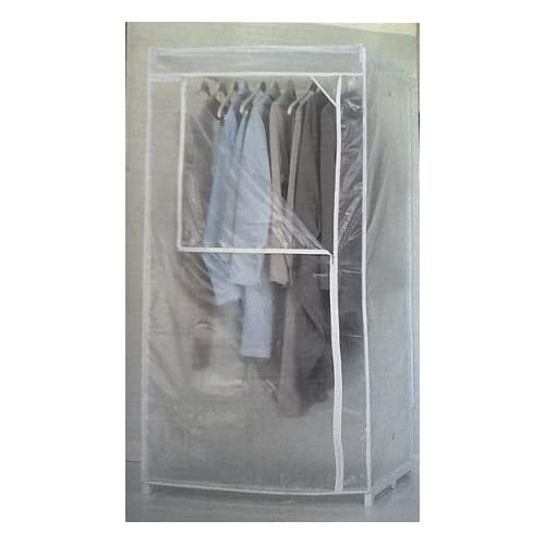"Stewart 36"" Stationary Storage Closet - Free Standing Garment Racks"