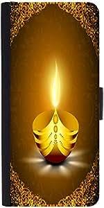 Snoogg Greeting Card For Diwali Celebration In India Designer Protective Phone Flip Case Cover For Redmi 2 Prime