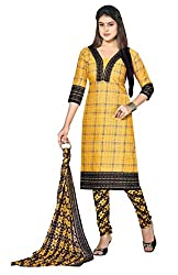Nilkanth Enterprise Yellow Dress Material