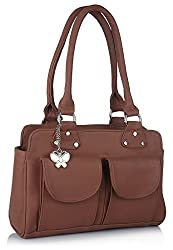 Butterflies Handbag (Tan) (BNS 0518)