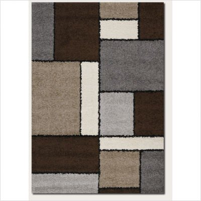 Couristan 4040/0002 MOONWALK Stonewall 63-Inch by 90-Inch Polypropylene Area Rug, Chocolate