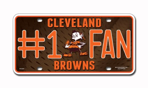 NFL Cleveland Browns #1 Fan Metal Tag