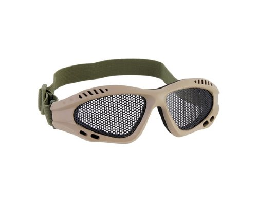 Steel Mesh Protective Goggles for Airsoft (Gray)