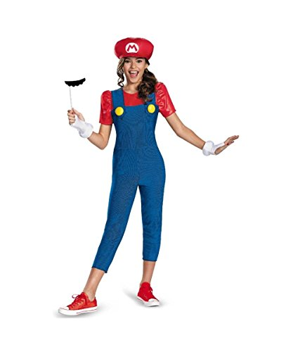 Super Mario Brothers Mario Girl Tween Costume